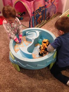 Water table doubles as a rice table. Great indoor/winter activity.