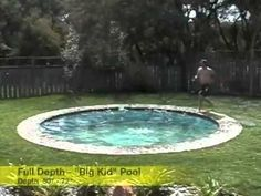 "This is an amazing idea! A ""hidden pool"" that can adjust to several depths or when hidden becomes a patio. No worries about someone sneaking into your pool or being too deep for younger kids."