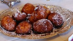 Lemon Ricotta Fritters Recipe Desserts with whole milk ricotta cheese, large eggs, all-purpose flour, sugar, unsalted butter, salt, lemon juice, lemon, vegetable oil, confectioners sugar