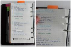 how I use the diary method bullet in my Filofax