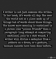 The Difference Between A Writer And Someone Who Writes in the words of Eliot Rose. (Part One)
