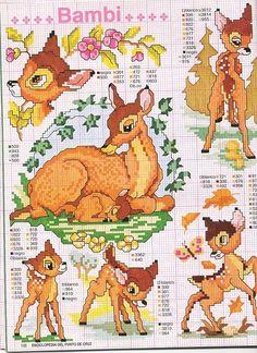 Patrones Bambi punto de cruz