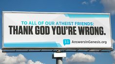 Creationist billboards urge 'atheist friends' to learn how God built dinosaurs