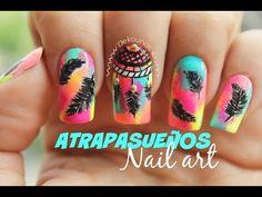Decoración de uñas mandalas - Mandala nail art - YouTube