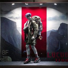 """THE NORTH FACE, Osaka, Japan, """"May your best miles be those covered by foot"""", for Lucua (Purple Label), photo by Yasuyuki Komaba, pinned by Ton van der Veer"""