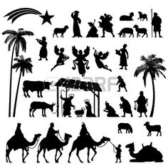 High Detail Vector Nativity Christmas Set Of Black Silhouettes. Royalty Free Cliparts, Vectors, And Stock Illustration. Image 44587274.