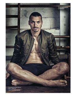 Footballer Zlatan Ibrahimovic wearing a #Dsquared2 bomber jacket. #D2Celebrities #ZlatanIbrahimovic