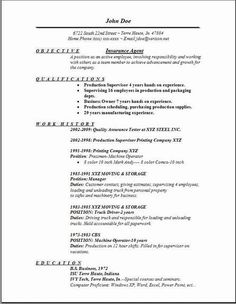 Insurance Broker Resume Template Sample - Insurance Broker Resume ...
