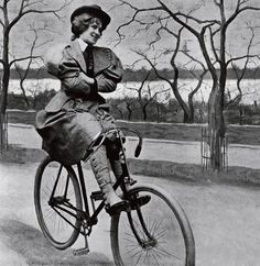 """edwardian-time-machine: """" A woman riding a 'scorcher', a Victorian bicycle, in St James' Park, Source """" Velo Vintage, Vintage Bicycles, Victorian Women, Victorian Era, Victorian Photos, Victorian Dresses, Art Costumes, Vintage Photographs, Vintage Photos"""
