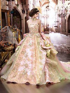 Stella De Libero. Blush, Pink, and soft Green. So gorgeous!