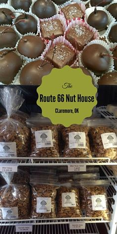 Stop by the The Nut House on Route 66 to pick up some tasty treats! This Claremore favorite offers a variety of made in Oklahoma products like homemade fudge, jellies, jams, cookies, bread, and any type of nut you can imagine! From salted to honey roasted to toffee covered to cinnamon spiced - The Nut House has something to satisfy every taste!
