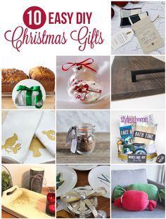10 DIY Christmas Gift Ideas ~ Wonderful handmade inspiration for fabulous DIY Christmas gifts to give these holiday season!