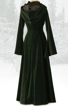 Beltane Coat- Forest Green Velvet. I am having all sorts of candle-lit, pine scented feelings about this coat.