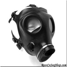 Add that extra element of kink to your breath control scene with this Israeli gas mask.  Made of heavy-duty rubber, this mask provides eye openings with acrylic lenses.  The adjustable elastic straps are easy to adjust and fit most heads.  Material:  Rubber, Elastic  Color: Black Note: One Size Fits Most. Filter NOT included #Bondage #Gear #Bondage #Gear  #Hoods #& #Blindfolds