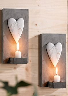 """Wall Candle Holder """"Heart"""""""