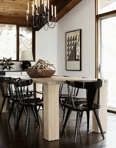 Scandinavian modern windsor chairs in black lacquer! David Prince