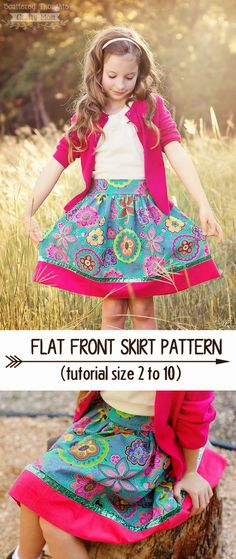Pattern for flat front skirt