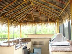 Used Tiki Bars For Sale | Inside a Tiki Hut Kit Structure with the Tiki Hut Kit