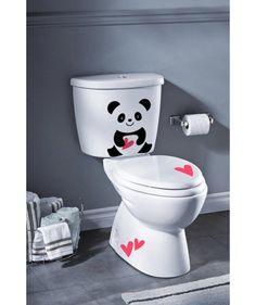 Panda corazones - Vinilo Adhesivo, decoración de baños. $39.900 COP. Encuentra más vinilos adhesivos en www.giferent.com/vinilos-decorativos-adhesivos