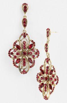Tasha Ornate Large Drop Earrings