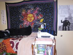 Tapestry for Dorm Room Walls - Interior Paint Color Trends Check more at http://www.mtbasics.com/tapestry-for-dorm-room-walls/