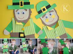 leprechaun craft for St Patrick's Day St Patrick Day Activities, Spring Activities, Activities For Kids, Crafts For Kids, Daycare Crafts, Preschool Ideas, Teaching Ideas, St Paddys Day, St Patricks Day
