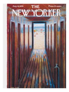 size: Premium Giclee Print: The New Yorker Cover - August 16 Art Print by Edna Eicke : The New Yorker, New Yorker Covers, 4th Of July Images, Framed Artwork, Wall Art, Poster Prints, Art Prints, Magazine Art, Magazine Covers
