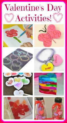 10 Valentines Day Activities for Kids!  Handmade cards, science, crafts and more!