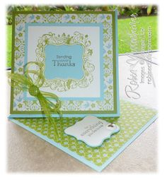 A twist on a Stampin' Up easel card