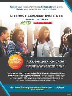Join us for the Literacy Leaders' Institute as educational thought leaders address district-wide literacy improvement. Thoughts On Education, Chicago School, Downtown Hotels, Educational Leadership, Professional Development, Literacy, Join, Teacher, Passion
