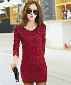 EC04073 Plus velvet package hip long sleeve dress for women