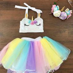 $8.94 - Baby Girls Unicorn Rainbow Tutu Skirt Tulle 1St Bithday Cake Smash Dress Photo #ebay #Fashion