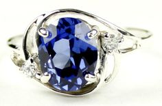 SR021, 10x8mm Created Blue Sapphire, 925 Sterling Silver Ring * Stone Type - Created Blue Sapphire * Approximate Stone Size - 10x8mm  * Approximate Stone Weight - 3.3 cts  * Jewelry Metal - Solid 925 Sterling Silver * Approximate Metal Weight - 3.5 grams  * Ring Size - Size selectable during checkout * Our Warranty - A full year on workmanship  * Our Guarantee - Totally unconditional 30 day guarantee