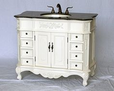 42 Inch Antique Bathroom Vanity BX8248151AW | Home | Pinterest | Bathroom  Vanities, Vanities And Powder Room