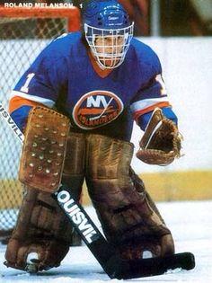 Rollie Melanson New York Islanders Autographed Signed Photograph w/COA Hockey Goalie, Hockey Games, Hockey Players, Ice Hockey, Field Goal Kicker, Goalie Mask, New York Islanders, Detroit Red Wings, Nhl