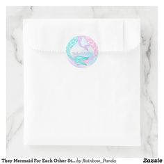 Shop They Mermaid For Each Other Sticker created by Rainbow_Panda. Teal Party, Mermaid Baby Showers, Baby Shower Supplies, Cup Art, Party Cups, Art Deco Wedding, Free Paper, Round Stickers, Custom Stickers