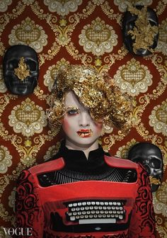 Mary Katrantzou by Garjan Atwood for Vogue Italia December 2012