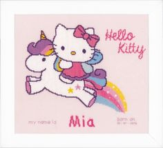 Hello Kitty & Unicorn - Cross Stitch Kit Vervaco 0156716