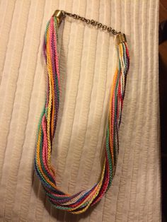 Collar de cadenetas de crochet