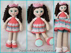 Handmade by Ülkü: Amigurumi Häkelpuppe Rosalie / Doll / Örgü Bebek