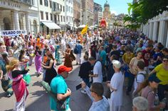14th Ratha Yatra Festival in Rijeka, Croatia (Album with photos) Srila Prabhupada: Krishna says that his devotee is never vanquished. Therefore all the disciples practicing Krishna consciousness sh…