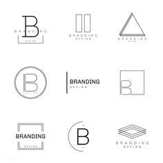 Simple logos and designs Logo Design Samples, Logo Minimalista, Typography Logo, Logo Branding, Minimal Logo Design, Badge Design, Grafik Design, Graphic Design Inspiration, Vector Free