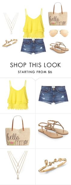 """Adorable summer outfit!"" by isabellal23 on Polyvore featuring Glamorous, Current/Elliott, Style & Co., Accessorize, Forever 21, Ray-Ban, women's clothing, women, female and woman"