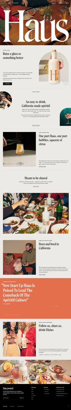 Haus landing page design inspiration - Lapa Ninja Website Layout, Web Layout, Layout Design, Modern Restaurant, Restaurant Branding, Restaurant Restaurant, Website Design Inspiration, Layout Inspiration, App Design