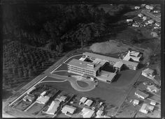 Aerial photograph taken by Whites Aviation. Nz History, Asylum, Auckland, Lincoln, New Zealand, The Neighbourhood, Aviation, Maternity, Fair Grounds