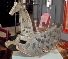 Folky American Rocking Horse* | From a unique collection of antique and modern toys at http://www.1stdibs.com/furniture/folk-art/toys/