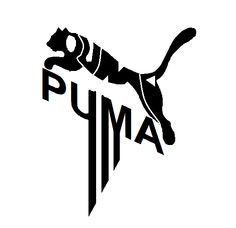 Puma, logo, made of it's word, puma, with stripes. Nike Drawing, Fashion Mark, Eagle Images, Smile Wallpaper, Bird Stencil, Puma Outfit, Silhouette Tattoos, Sports Wallpapers, Pumas