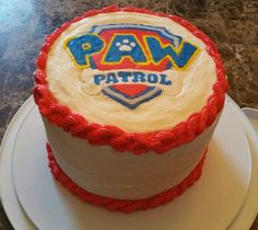 Paw Patrol Cake with butter cream icing - for a 3rd birthday party