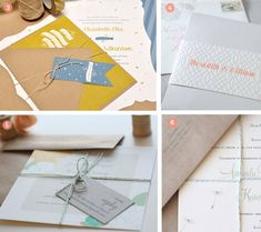 Criss-cross tie -- Finishing Touches: 8 Ways to Tie Your Invitations