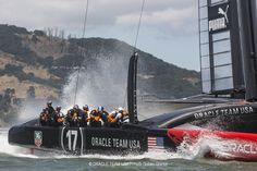 The ORACLE TEAM USA sailors are getting ready for summer with their own wild water park ride!